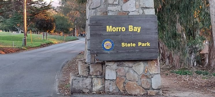 Morro Bay State Park Sign